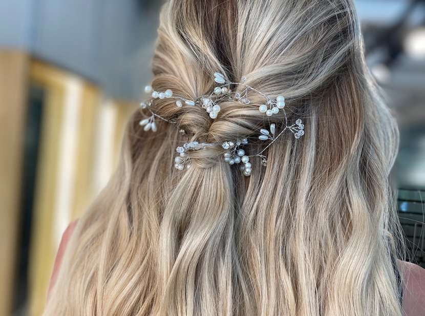 Styling at vixen and blush hair extensions