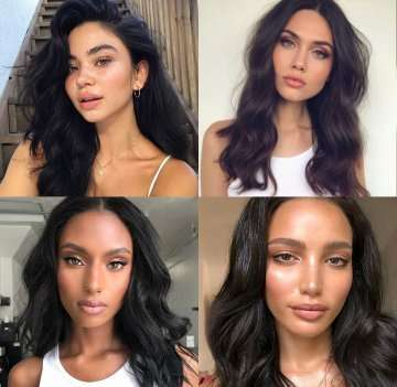 1 Jet Black Hair - Vixen & Blush Hair Extensions Inspiration