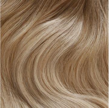Weft Hair 90g - C19 - Rooted Champagne Blonde